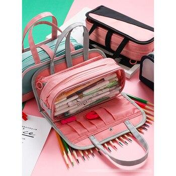 Pencil Case Cosmetic Bag Wash Bag Large Capacity Pencil Case MBD047-050-7 School Pencil Case Office Pencil Case Pencil Pouch цена 2017