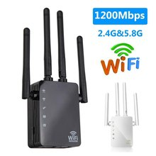 Wireless WiFi Repeater Wifi Signal Amplifier For Home Office Network WiFi Booster 1200Mbps Long Range Extender 4 Antenna Router