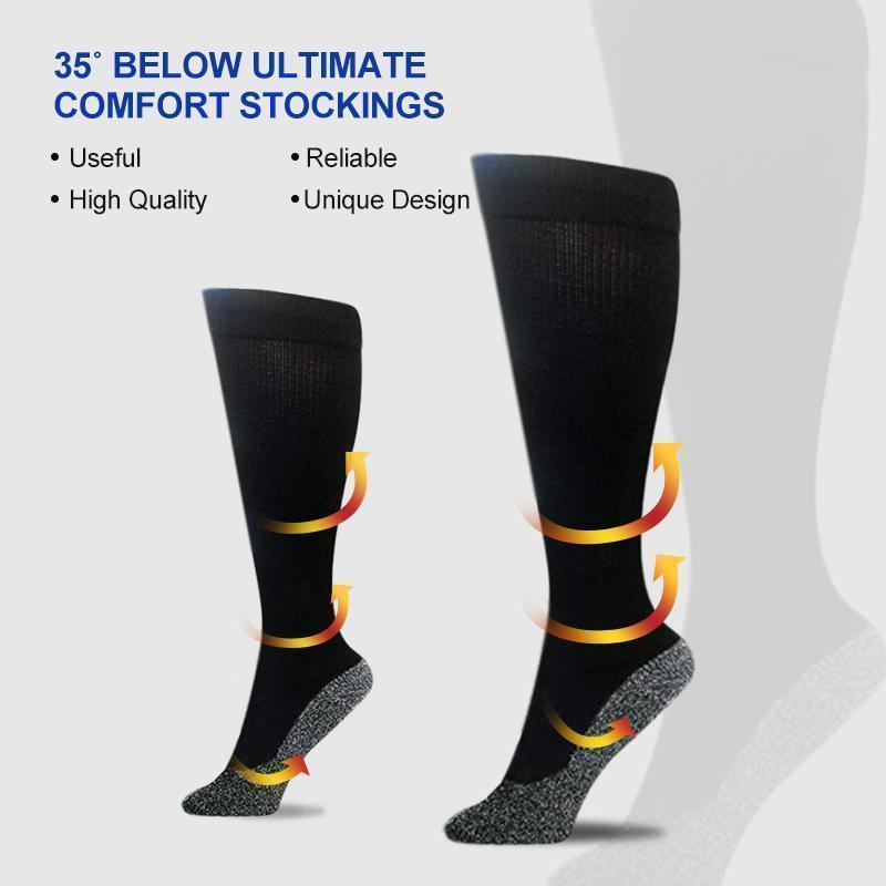1 Pair Compression Warming Socks Black Aluminized Fibre Unisex Daily activities walking running Socks Accessories
