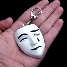 Blesses Pendant Chinese Paladin Movie White Ghost Mask Toy Key Chain 5.5cm