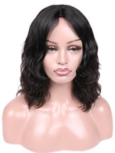Wignee Short Human Wig Lace-Part Curly Brazilian-Hair Natural-Wave Glueless Remy Women