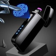 USB Lighters Cigarette Lighter Metal Charging Plasma Arc Lighter Induction Windproof Electronic Gadg