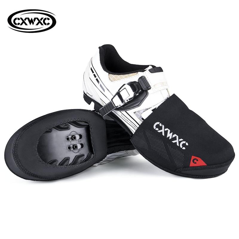 Cxwxc inverno estrada sapatos de bicicleta toe cobre ciclismo overshoes neoprene à prova vento à prova dwindproof água sapato protetor botas para bicicleta