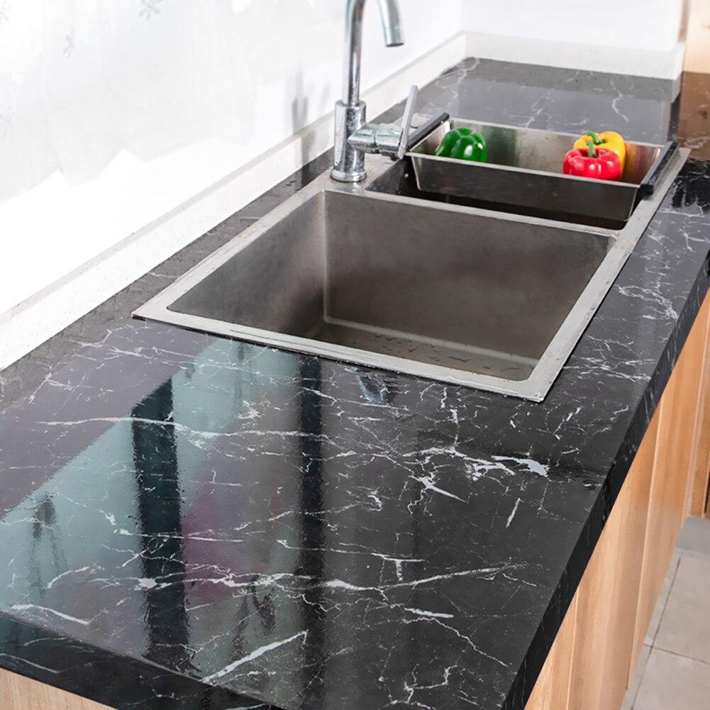 Papel tapiz de mármol autoadhesivo de PVC impermeable a prueba de aceite papel de Contacto pared baño cocina autoadhesivos de renovación de muebles