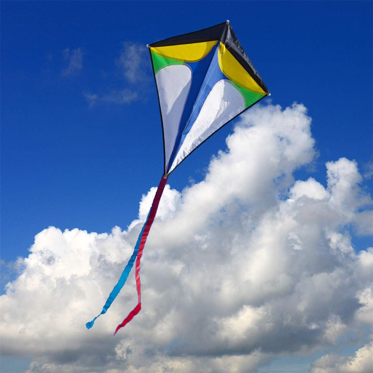 Diamond Flying Kite Tail Outdoor Sports Toys Kid Fun Game Activity Kids Learning Toy 78CM