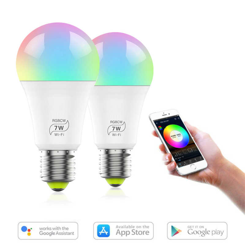 1/2/3/5 Pcs Smart Wifi Led Lamp 7W Magische Lamp E27 Smart Home verlichting Compatibel Met App Smart Lamp Nachtlampje