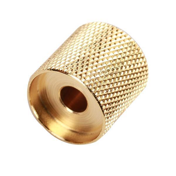 2pcs Gold Plated Brass Metal Dome Volume Tone Control Knob For Electric Guitar