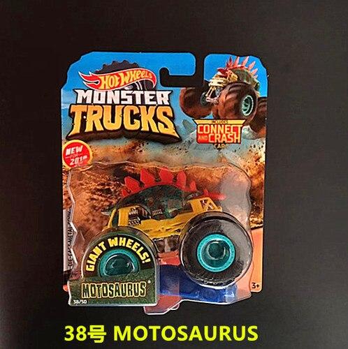 1: 64 оригинальные горячие колеса гигантские колеса Crazy Barbarism Монстр металлическая модель грузовика игрушки Hotwheels большая ножная машина детский подарок на день рождения - Цвет: 38