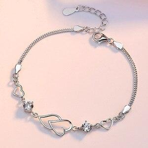 925 Sterling Silver Love Women Bracelet