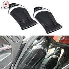 C63 AMG seat back cover For Mercedes-benz A45 GLA45 CLA45 Carbon fiber chair patch interior trim 4 Pcs/set