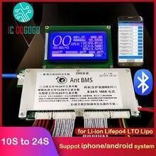 300A 10S à 24S panneau de Protection de batterie au Lithium portable affichage LCD intelligent BMS lifepo4 Lipo li ion ion téléphone APP Bluetooth 16S 21S