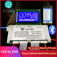 Защитная плата для литиевых батарей 300A 10S 24S, умный ЖК дисплей, BMS lifepo4, Lipo, li ion, приложение для телефона, Bluetooth 16S 21S