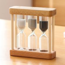 Creative 1/3/5 Minute Wooden Sand Glass Hourglass Timer Clock Home Decor Gift For Childern Simple Style(China)