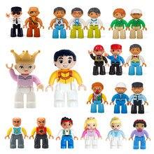 Grandes blocos de construção peças diy figuras de ação modelo acessório diy blocos de construção príncipe princesa doutor trabalhador brinquedos para crianças