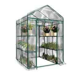 Tahan Korosi Tanaman Bunga Cover Pvc Penutup Rumah Kaca Tahan Air Anti Sinar UV Berkebun Melindungi Tanaman (Tanpa Stand Besi)