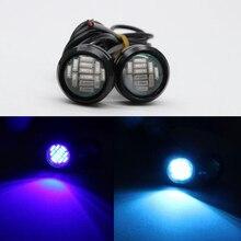 цена на 5pcs 10pcs Car Motorcycle Eagle Eye Led Lights DRL Daytime Running Lights Tail Backup 5w 23mm Light Source Parking Lamp 12V