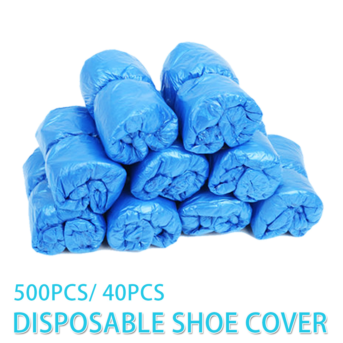 500pcs/ 40pcs Medical Waterproof Boot Covers Plastic Disposable Shoe Covers For Home/ Hotel/ Hospital/ Rainy Season Overshoes