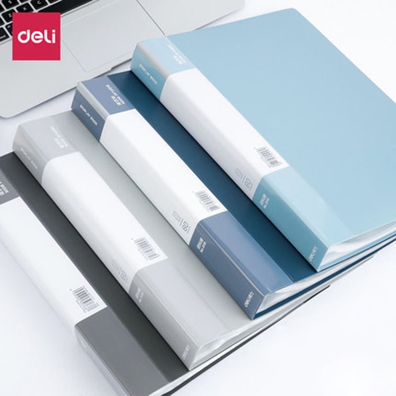 Deli 5116 Document Book 30 Pages/40 Pages/60 Pages/80 Pages A4 Folder Paging Insertion Bag For Office Students