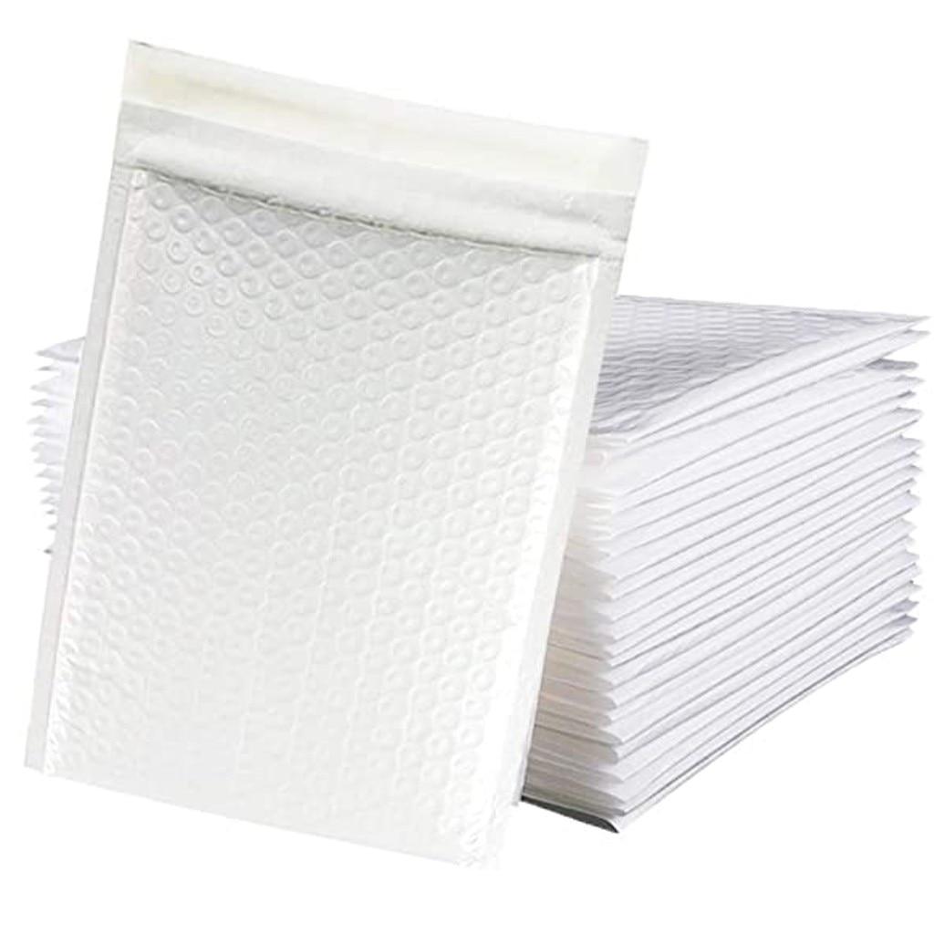 50 шт./лот, курьерские самозапечатывающиеся конверты, конверты из полимерной пены, конверты с пузырьками, мягкие почтовые сумки, водонепрони...
