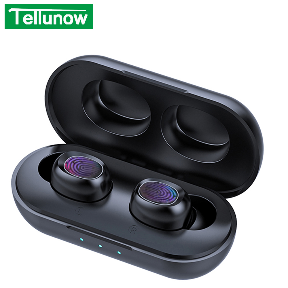 B5 TWS Bluetooth Wireless Earphone 5.0 Touch Control Earbuds Waterproof 9D Stereo Music Headset 300mAh Power Bank