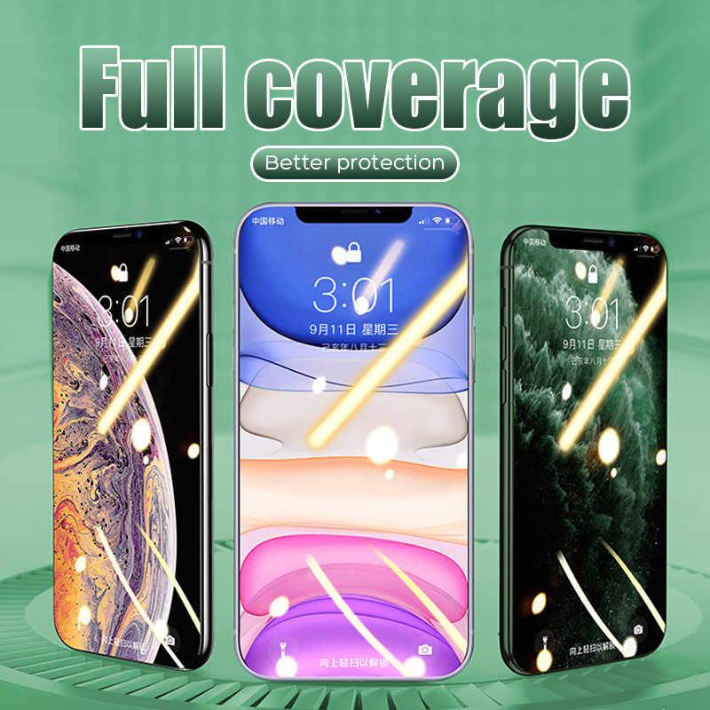 500D completa de la cubierta de vidrio templado para iPhone 11 Pro Max Glass X XS X Max XR Protector de pantalla de vidrio para iPhone 6 iPhone 6 6s 7 7 Plus X película