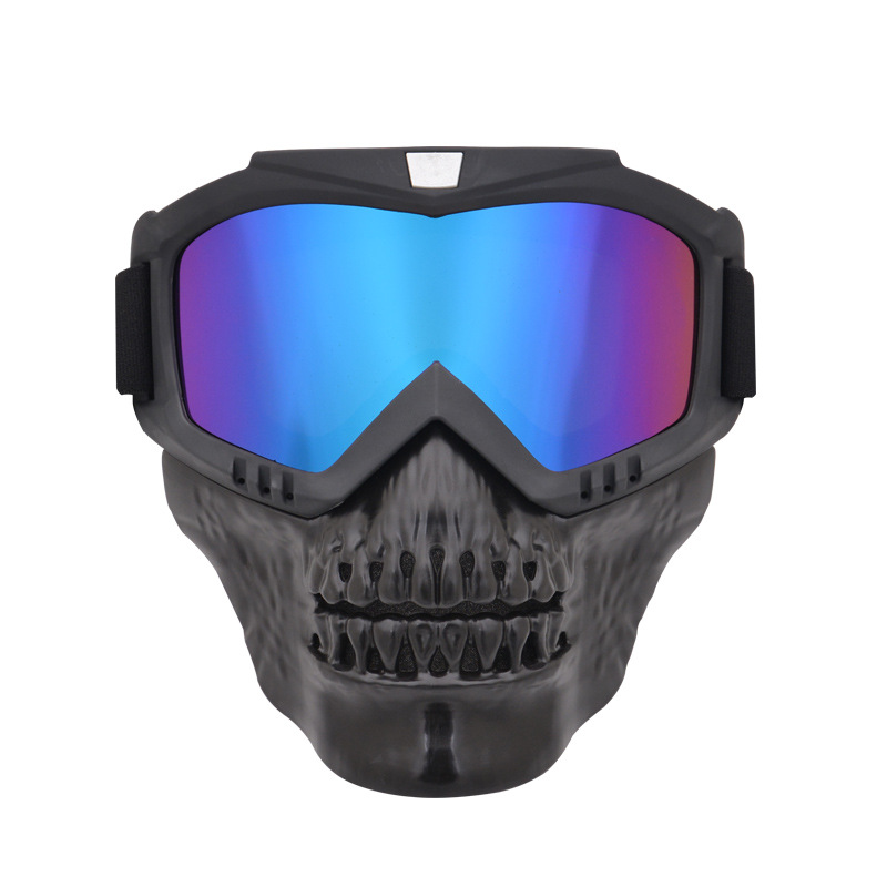 Devil Goggles Mask Goggles For Motorcycle Off-road Eye-protection Goggles Outdoor Skeleton Bicycle Glass Locomotive Helmet Glass
