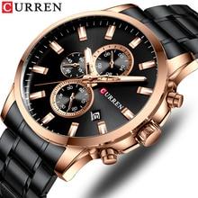 цены CURREN Men Watch Top Brand Stainless Steel Mens Watches Chronograph Quartz Watch Men Sports Clock Relogio Masculino Reloj Hombr