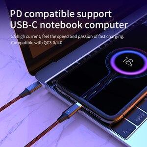 Image 5 - 4 in1 마그네틱 USB PD 케이블 유형 C 마이크로 4 usb to USB 어댑터 USB C 5A MacBook Pro 용 고속 충전 데이터 전송 케이블