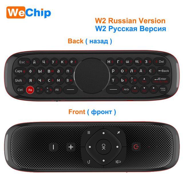 Wecchip W2 Mini teclado con almohadilla táctil ratón 2,4G inalámbrico Fly Air Mouse Control remoto de voz para Tv Box/Mini Pc/Tv PK wchip W1