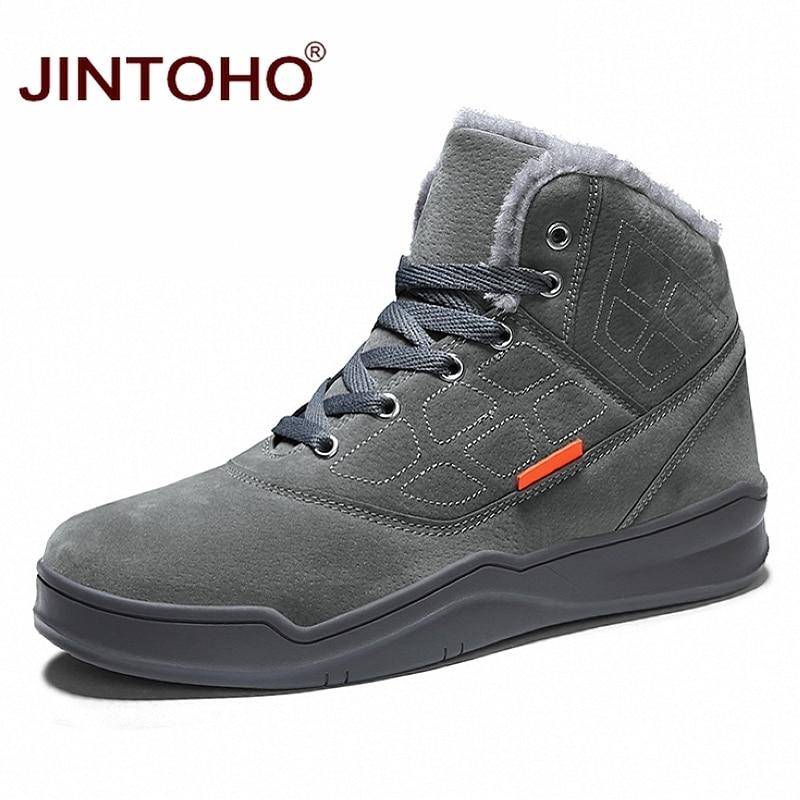 JINTOHO Fashion Men Winter Shoes Warm Men Boots Casual Snow Boots Winter Snow Shoes Mens Ankle Boots Winter Sneakers For Men