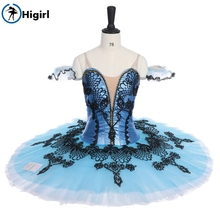 Shipping free! New style Competition  Girls Blue Professional Classical Ballet Tutus adult Women Stage Costume BT9144A