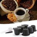 6 шт многоразовые кофейные капсулы фильтр чашки многоразового использования крышки ложка-кисточка фильтр корзины Pod мягкий