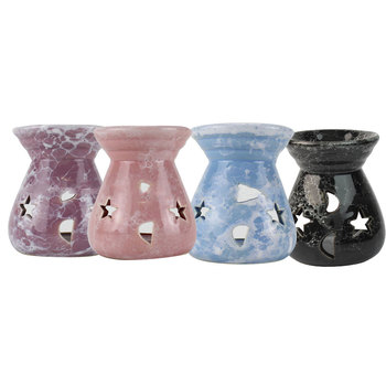 5pcs MIni Ceramic Diffuser Candle Holder Aromatherapy Oil Burner Fragrance Aroma Home Decor Supplies image
