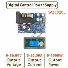 Wz5020l wz5012l dc conversor buck cc cv step-down módulo de potência 50v 20a 1000w tensão ajustável fonte de alimentação regulada