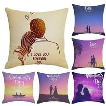 цена на new 1Pc Lover Letters Printed Pattern Pillow Case Cushion Cover Washable Pillow Case Home Sofa Car Decor Easy clean dry fast