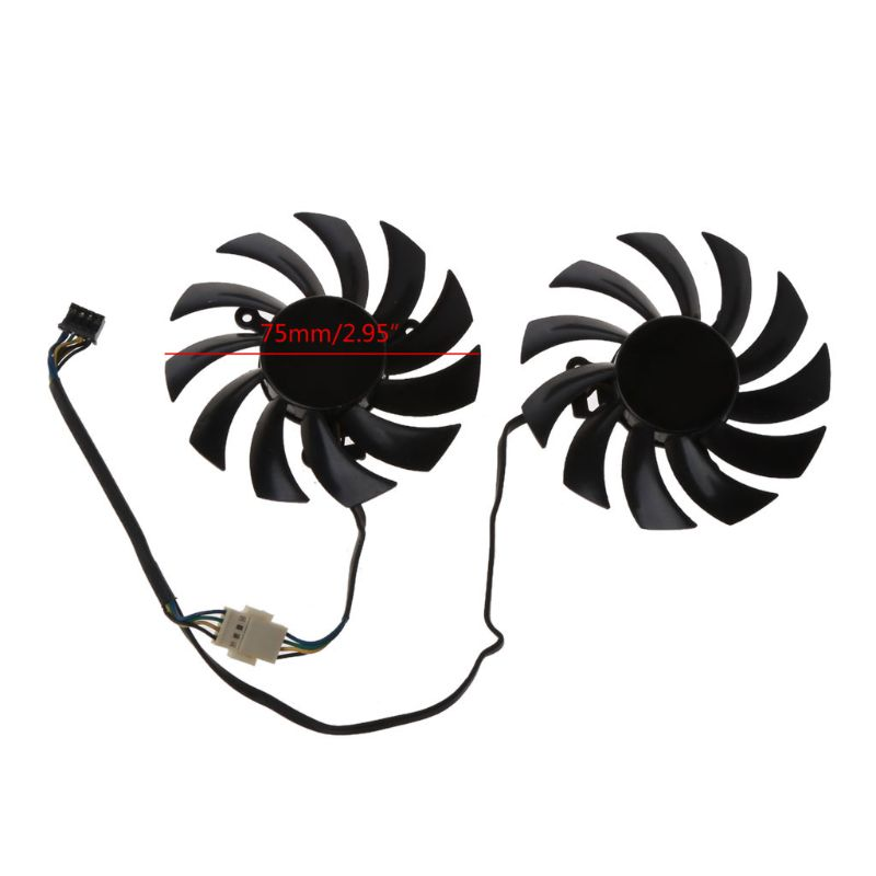 FD7010H12S 75MM 4pin Cooler Fan Graphics Video Card Fans For MSI Radeon Sapphire 6930 7850 <font><b>GTX</b></font> <font><b>550</b></font> 750 770 <font><b>Ti</b></font> 7870 image
