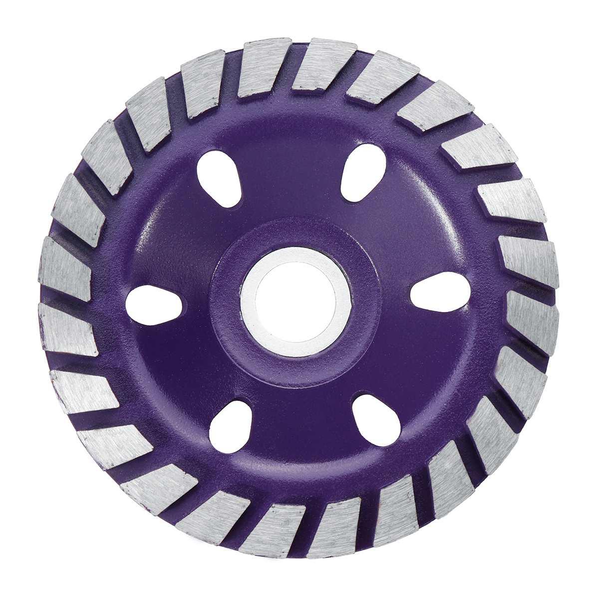 Прочный 5 Тип 4 дюйма 100 мм Алмазный шлифовальный диск шлифовка в форме чаши чашка бетонный гранитный камень Керамика инструменты - Наружный диаметр: Purple