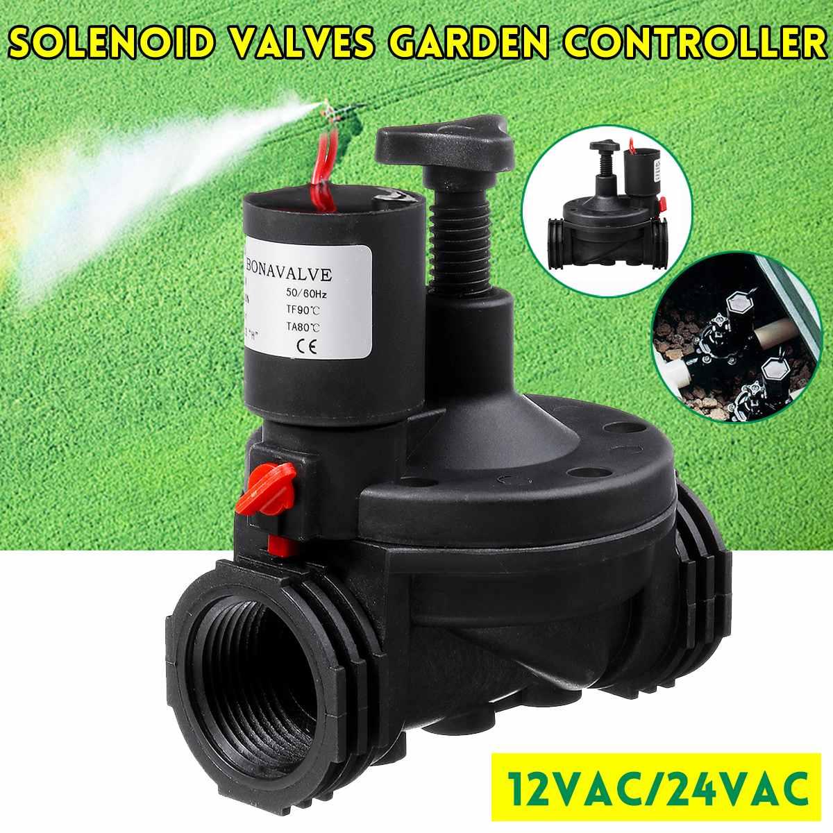 Newest 1'' Industrial Irrigation Valve 12V/24V AC Solenoid Valves Garden Controller  for Garden Yard Garden Water Timers|Garden Water Timers| |  - title=