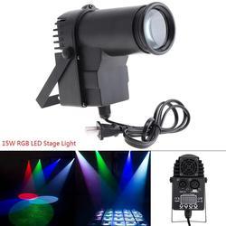 15W RGBW 4 in1 DMX pełnokolorowe reflektory LED światło sceniczne Spot Beam 6 kanałowe nastrojowe oświetlenie z kontrolą głosu dla Bar Stage KTV