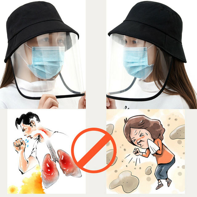 Epidemic Protection Hat Anti Saliva Cap Face Shield Isolation Face Cover Hats 2