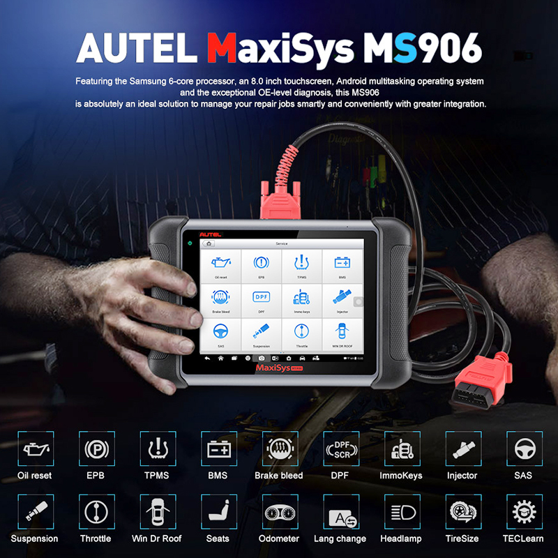 Image 2 - Autel MaxiSys MS906 Automotive Diagnostic Tool All System Code Reader Scanner with ABS/SRS/SAS/EPB PK MP808 DS808