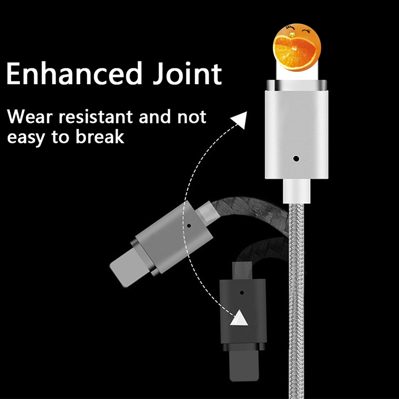 OUSU 2 4A Fast Charging 3 in 1 Magnetic Cable For iphone Lightning Cable USB Type C cabel For samsung s10 9 8 Magnetic Micro USB in Mobile Phone Cables from Cellphones Telecommunications