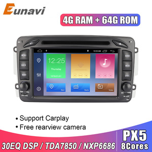 Eunavi 2 Din 7'' Android 9.0 Car DVD For Mercedes Benz CLK W203 W208 W209 W210 W463 Vito Viano 2din auto radio stereo with dsp(China)