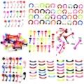 20 шт цветные Гибкие разноцветные силиконовые пирсинг для пупка, пирсинг для пирсинга, пирсинг для пирсинга, серьги-гвоздики