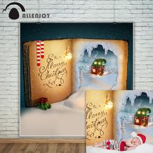 Allenjoy christmas backdrop Fairy tale snow world in the book baby wonderland party background photocall photobooth phonezone