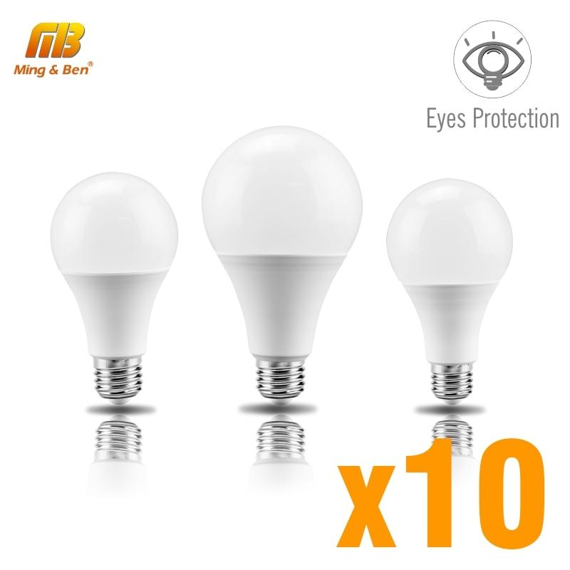 10pcs LED Lamp Bulb No Flicker Eyes Protection E27 AC220V 3W 6W 9W 12W 15W 18W 22W LED Light Bulb Lampada