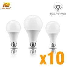 10pcs LED Lamp E27 3W 6W 9W 12W 15W 18W 22W AC220V LED Light Bulb LED No Flicker Lampada For Living Room Bedroom Home Lighting