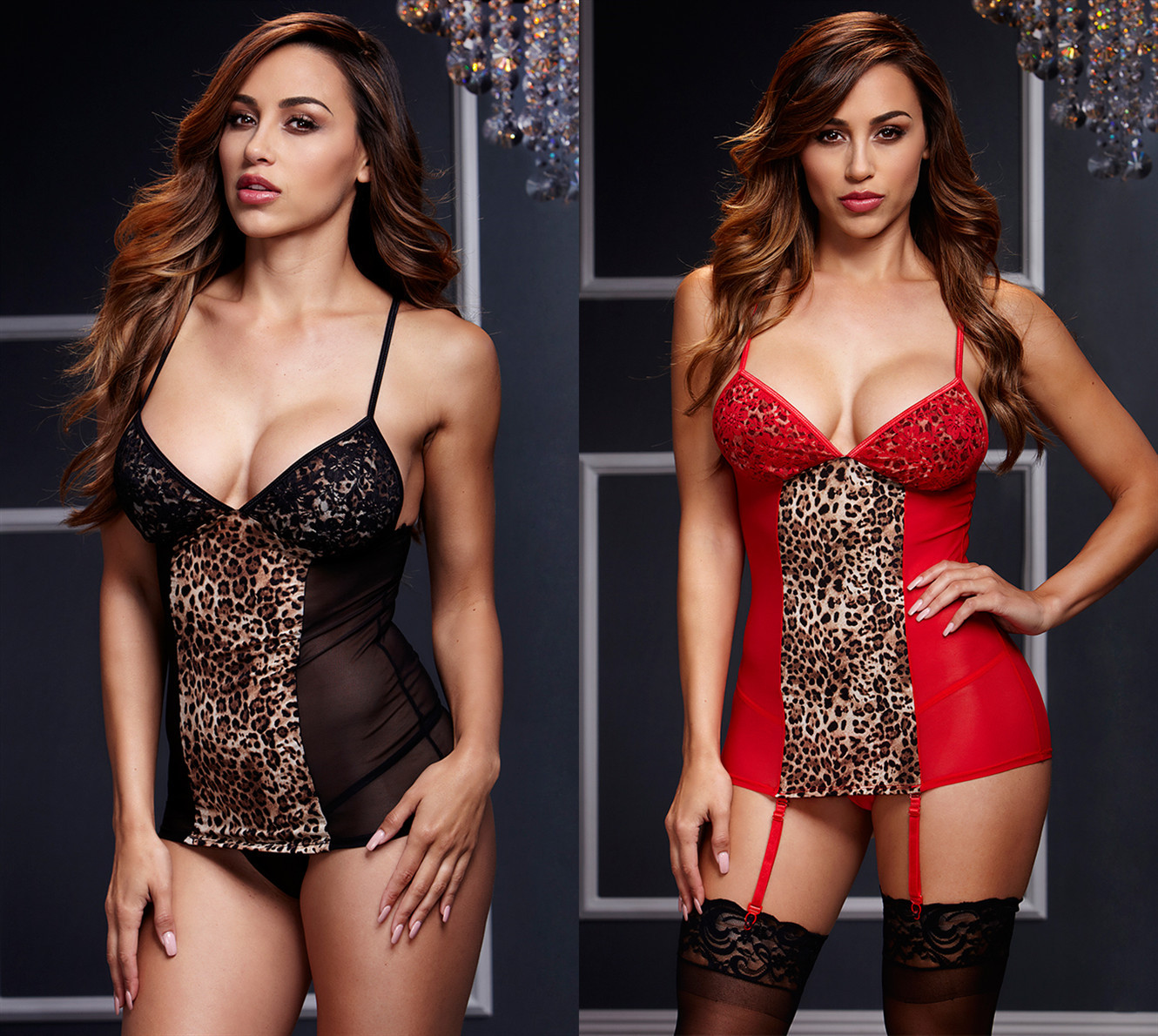 2019 New Sexy Lace Babydoll Red Lingerie Set Woman Hot Erotic Hollow Corset Underwear Lingerie Sex Bondage Clothes Porno Costume