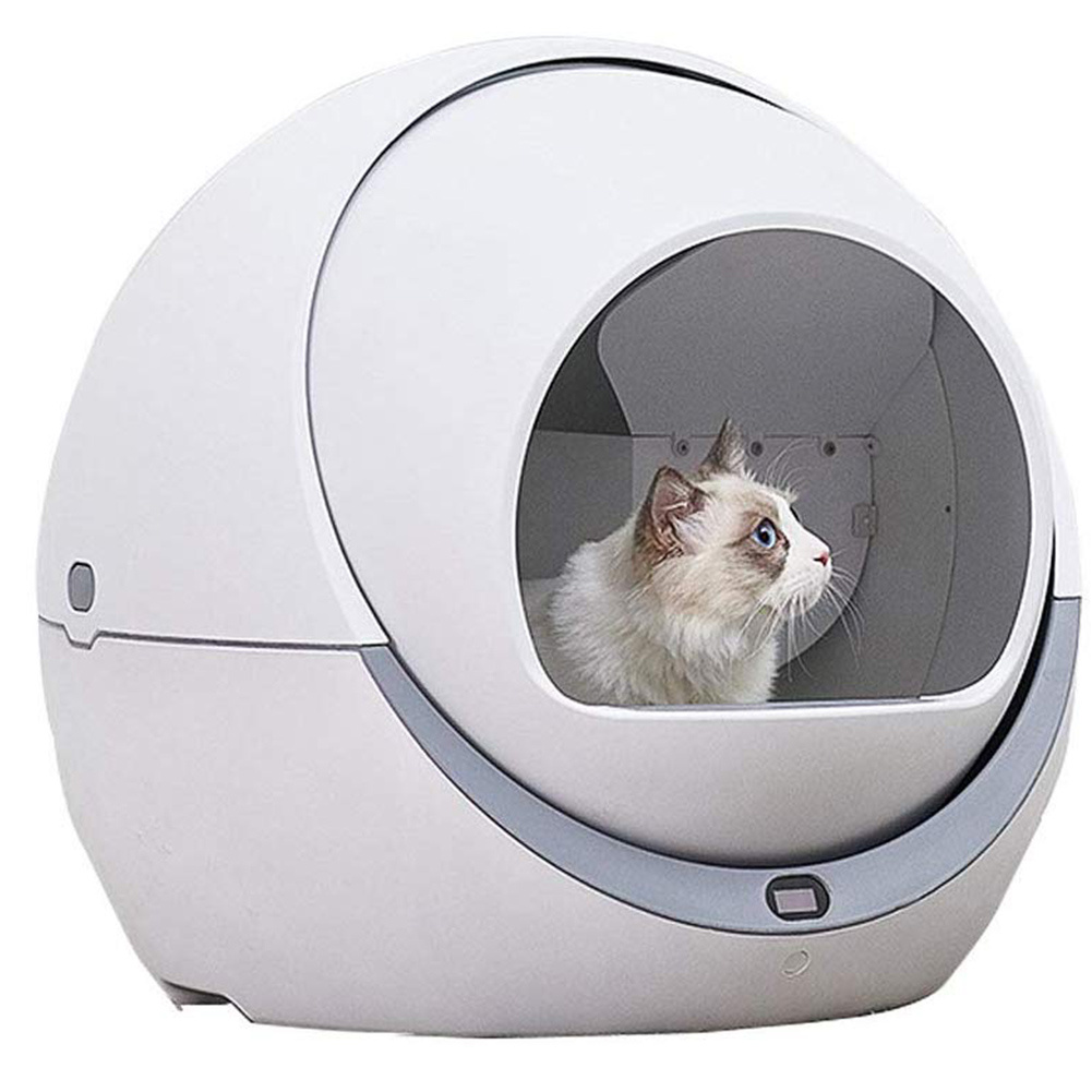 Automatic Cat Litter Box Smart Litter Tray Toilet Quick Cleaning Deodorant Splash-Proof Safe Enclosed Electric Litter Box(China)