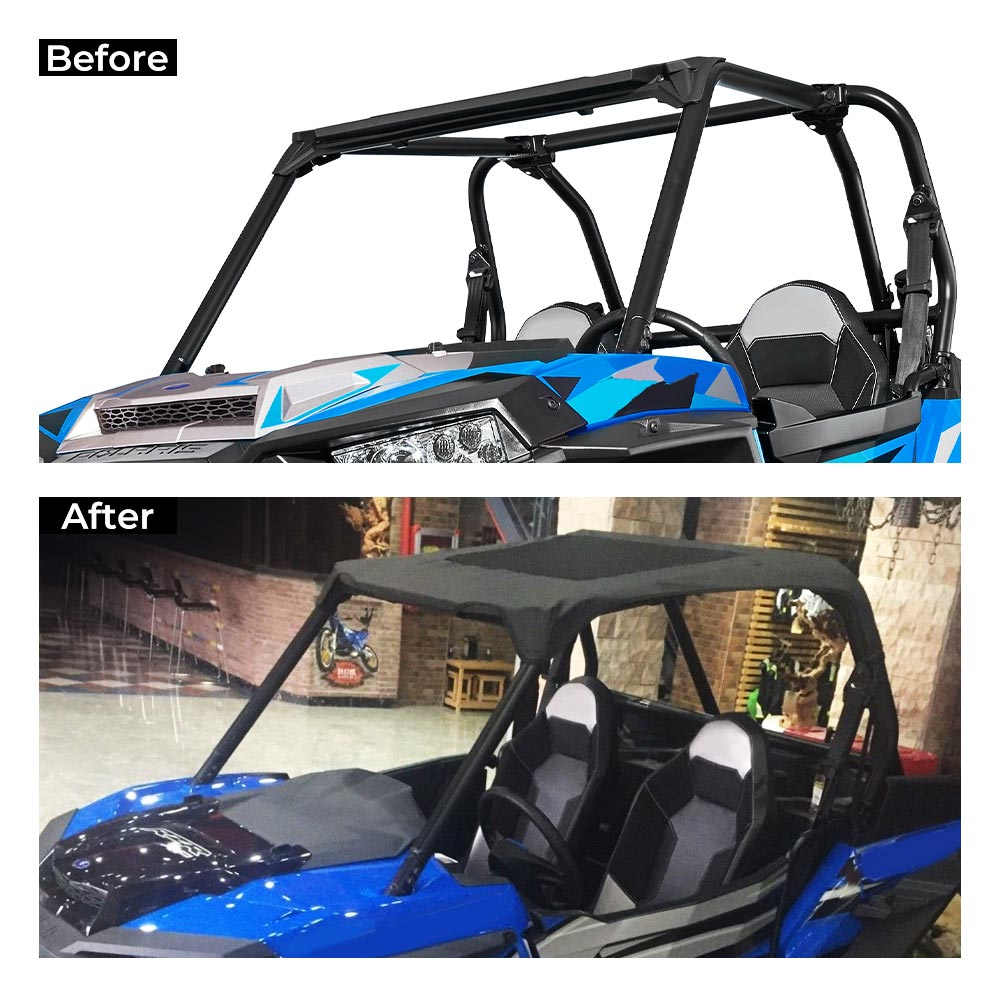 2 Seats UTV Soft Roof Top Sun Roof Cover For Polaris RZR 900 / S 900 / S 1000 / XP 1000 2014 2015 2016 2017 2018